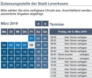 Straßenverkehrsamt Leverkusen Termin
