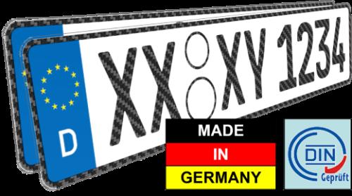 carbon nummernschild kennzeichen auto