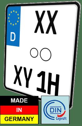 nummernschild Motorrad Oldtimer H Kennzeichen