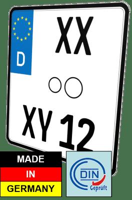 nummernschild Motorrad kennzeichen günstig kaufen